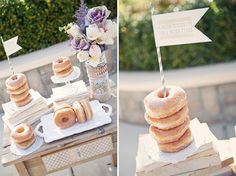 doughnuts for a unique wedding treat