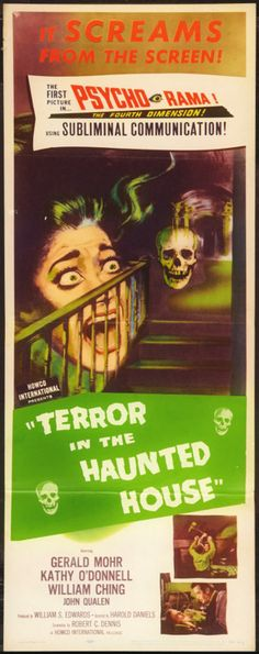 Terror in the Haunted House (Howco, 1959)  In PSYCHORAMA!