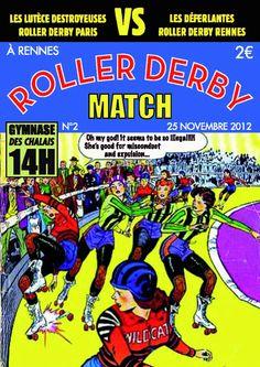 Roller Derby Rennes vs. Lutèce Destroyeuses – Dimanche 25 novembre à 14h