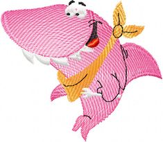 free embroidery | Happy Shark free embroidery design