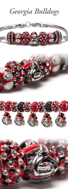 Georgia Bulldogs: Gear up for the game! We have a wide range of licensed University Jewelry as well as accessories & travel gifts. All jewelry pieces fit Pandora charm bracelets. University Of Georgia, Georgia Bulldogs Football, Georgia Girls, Lisa, Stone Jewelry, Girly Things, Making Ideas, Falcons, Stud Earrings