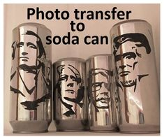 Photo Transfer to Soda Can : 7 Steps (with Pictures) - Instructables Aluminum Can Crafts, Metal Crafts, Recycled Crafts, Recycled Clothing, Recycled Fashion, Metal Projects, Tin Can Art, Soda Can Art, Pop Can Crafts