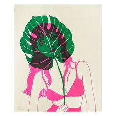 """Artist: Bijou Karman Height: Width: Printing Method: Risograph Paper Type: Card stock Features: Limited edition of 65 signed, dated and numbered. Print release for Bijou Karman's solo exhibition """"A New Look. Illustration Inspiration, Graphic Design Inspiration, Graphic Illustration, Illustrations, Arte Floral, Grafik Design, Gravure, Art Plastique, Art Inspo"""