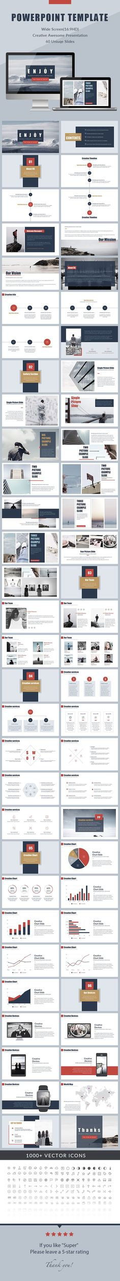 Enjoy - Minimal PowerPoint Presentation Template                                                                                                                                                                                 More