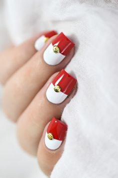 Marine Loves Polish: Nailstorming - Pokémon Go ! - color block - studs nail art