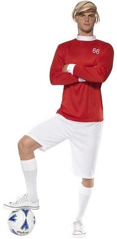 Got an themed party to go to and love football? If so then the Football Player costume is the perfect retro fancy dress for you! Football Soccer, Football Players, Football Player Costume, Hero Costumes, Fancy Dress, British, Popular, Dresses, Whimsical Dress