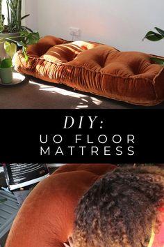 Floor Cushion Couch, Floor Couch, Floor Cushions, Giant Floor Pillows, Diy Mattress, Mattress On Floor, Twin Mattress Couch, Diy Furniture Couch, Diy Cushion