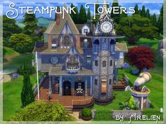 Sims 4 CC's - The Best: Steampunk Towers by Arelien