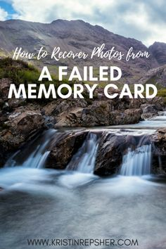 Do you know what to do when your memory card fails? I learned all of the steps for recovering your photos the hard way, and this article is full of tips to ensure you don't end up in the same situation, or if you have had a memory card fail, how to go about getting back as many photos as possible.