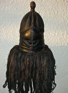 AUTHENTIC-AFRICAN-ART-SANDE-SOCIETY-MENDE-BUNDU-HELMET-MASK-from-Liberia-1980