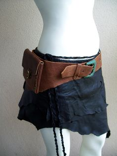 Auburn Leather Pouch Belt by ArchaicLeatherworks on Etsy, via Etsy.