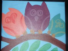 my painting of owls