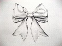 ribbon bow drawing | Black Bow Drawing