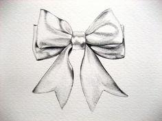 ribbon bow drawing | Black Bow Drawing