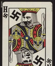 Political Posters, Labadie Collection, University of Michigan: [untitled] playing card with Nixon and Hitler