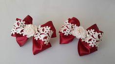 (96) Одноклассники Ribbon Braids, Ribbon Headbands, Ribbon Bows, Making Hair Bows, Diy Hair Bows, Diy Bow, Baby Hair Clips, Felt Bows, Boutique Hair Bows