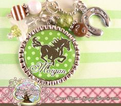Personalized Horse Cowgirl Bezel Necklace by onceuponasugartree, $17.50
