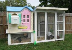 Playhouse to chicken coop