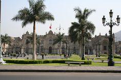 Palacio de Gobierno y sede de la Presidencia. Plaza de Aramas de Lima