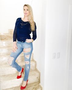 Night  Night com look inspiração by @chopperoficial !!!! #destroyedjeans ... AMO!  #nightnight #instablogger #instalook #lookfashion #jeans #chopperoficial #temnacartao