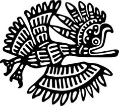 siyah simgesi tasarım kuş Meksika tarihi Meksika eski motifi motifleri Eski Meksika Motif küçük resim