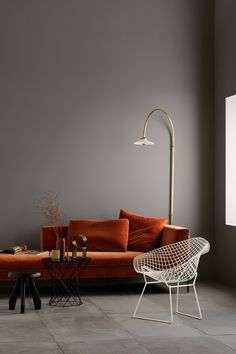 home interior design living room Interior Design Minimalist, Decor Interior Design, Interior Decorating, Interior Colors, Orange Interior, Interior Modern, Luxury Furniture, Home Furniture, Modern Furniture