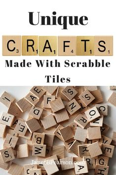 Most of us have played the scrabble board game and probably have at least one set we are not using. The tiles can be used to make Scrabble tile crafts. Upcycled Crafts, Easy Diy Crafts, Diy Crafts To Sell, Fun Crafts, Gift Crafts, Fun Diy, Handmade Crafts, Scrabble Kunst, Scrabble Tile Art