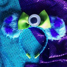 Monster inc inspired mouse ears for Disneyland!