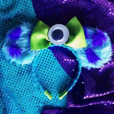 Monster inc inspired mouse ears for Disneyland!