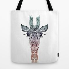 GiRAFFE by Monika Strigel as a high quality Tote Bag. Free Worldwide Shipping available at Society6.com from 11/26/14 thru 12/14/14. Just one of millions of products available.