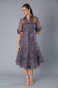 55643d17d645 Gunmetal is a very sophisticated colour for the modern and elegant mother  of the bride and mother of the groom. This pure silk