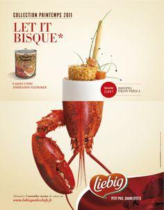 LIEBIG (CONCEPTION-REDACTION) : concept d'annonce presse pro pour l'agence Nouveau Monde DDB Paella, Sea Salt, Ads, Wine, Bottle, Creative, Food, Design, Brave New World
