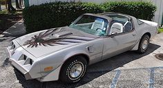 1979 Pontiac Trans Am 10th Anniversary with Fisher-style T-tops; featured special silver paint with a larger hood bird, leather interior and Appliance finned Turbo aluminum 15 x 8 wheels