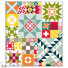 Moda Modern Building Blocks quilt kit from The Loopy Ewe--seems like a lot of fun and a good learning quilt! It's out of stock (and was $150.00), but I could maybe do something similar someday...