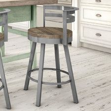 Found it at AllModern - Alameda Swivel Bar Stool Bar Counter, Counter Stools, Restaurant Bar Stools, Cafe Seating, Contemporary Bar Stools, Classic Bar, Swivel Bar Stools, Home Kitchens, Solid Wood
