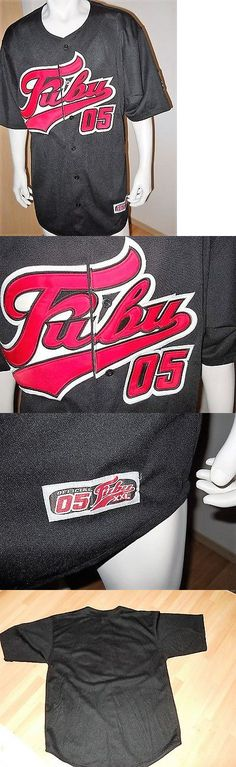 Baseball Shirts and Jerseys 181348: Mens Large Fubu Rare 05 Black Vintage New Hip Hop Baseball Jersey 90S -> BUY IT NOW ONLY: $39.99 on eBay!