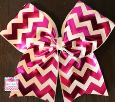Purple and White Chevron Cheer Bow. by LivinTheBowLife on Etsy