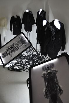 Charlotte Mullor F/W 2014/15 collection  Scénographie by Guillaume Macé Event hosted by Springsioux