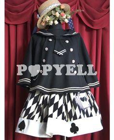 #lolita #manteau #laine Boutons noirs lâche modèle laine Lolita pardessus