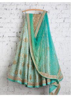 Designer sarees ,indian sari ,bollywood saris and lehenga choli sets. punjabi suits patiala salwars sets bridal lehenga and sarees. lehenga made in net fabric. blouse in silk with sequins work. dupatta in net. Pakistani Dresses, Indian Dresses, Indian Outfits, Mehendi Outfits, Ethnic Outfits, Lehenga Choli Online, Silk Lehenga, Anarkali, Lehga Choli