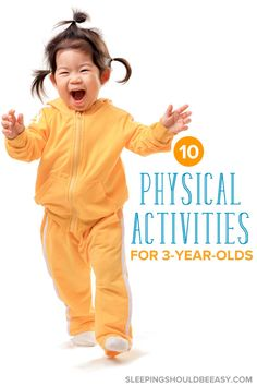 Looking for physical activities for 3 year olds to get your child moving? Whether indoors or out, discover 10 fun activities perfect for toddlers and preschoolers! These ideas will encourage gross motor skills for kids and are super simple to do.