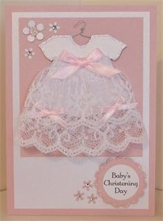 37 Trendy Baby Cards Christening Paper Crafts - List of the most beautiful baby products Baby Girl Cards, New Baby Cards, Baby Scrapbook, Scrapbook Cards, Baptism Cards, Baby Shower Invitaciones, Baby Christening, Handmade Christening Cards, Karten Diy