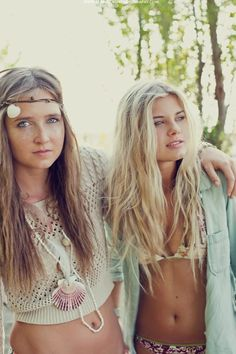 Beach boho girls.