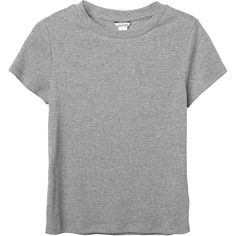 Monki | Basics | Magdalena tee ($13) ❤ liked on Polyvore featuring tops, t-shirts, crop t shirt, ribbed tee, ribbed crop tee, ribbed top and crop top