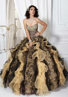 2013 Leopard Quinceanera Dresses Party Prom Dress Ball Gown Bridal Gowns A  Line b3bd36513