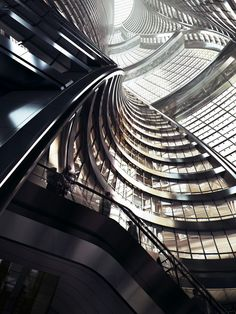 Gallery of Zaha Hadid Architects Releases Images of Tower with the World's Tallest Atrium - 5