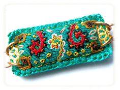 BIJOU BRODé Bracelet bohème vert original russie en par myrifik