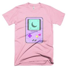 Lavender Magical Girl Game System Short Sleeve Unisex T-Shirt  #videogames #gamer #gameboy #kawaii #sparkle #controller #nintendo