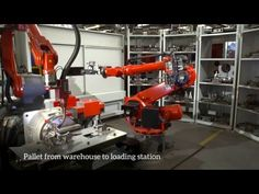 Compact robot cell for single piece production - YouTube