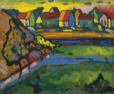 Wassily Kandinsky, Summer Landscape, Mountain Landscape, Art Dégénéré, Degenerate Art, Blue Rider, Cross Stitch Pictures, Country Landscaping, Reproduction